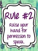 Whole Brain Teaching 5 Rules and Callbacks - Peacock Theme