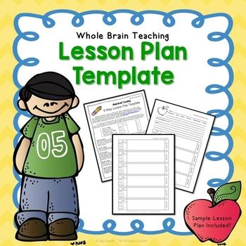 Whole Brain Teaching ~ 5 Step Lesson Plan Template