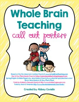 Whole Brain Teaching Call Out Posters