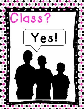 Whole Brain Teaching - Class Responses (Black and Pink theme)