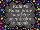 Whole Brain Teaching:  Classroom Rules (Multicolored Polka Dot)