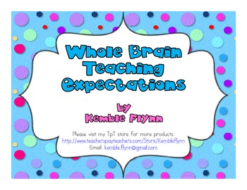Whole Brain Teaching Expectations FREEBIE