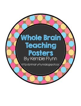 Whole Brain Teaching Pastel Polka Dot Circle Posters FREEBIE