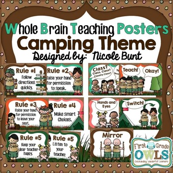 Whole Brain Teaching Posters Camping Theme