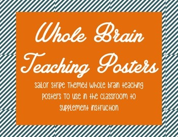 Whole Brain Teaching Posters - Sailor Stripe