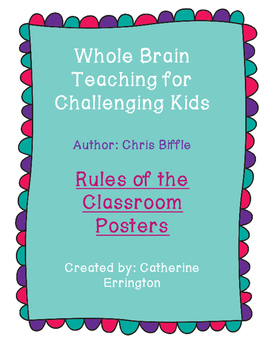 Whole Brain Teaching: Rule Posters