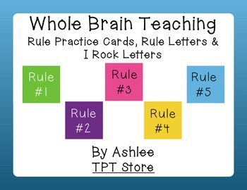 Whole Brain Teaching Rule/Practice Cards & Letters