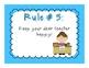 Whole Brain Teaching Rules {Bright Colors & Polka Dot Themed}
