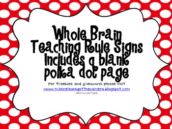 Whole Brain Teaching Rules Red Polka Dots