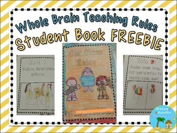 Whole Brain Teaching Rules Student Book {Freebie}