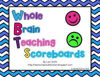 Whole Brain Teaching Scoreboards Freebie