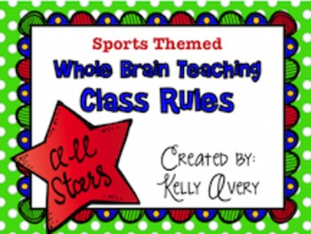 Whole Brain Teaching Sports Themed Class Rules