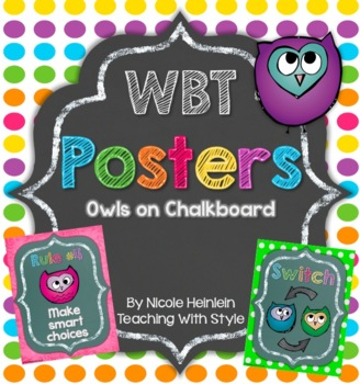 Whole Brain Teaching Owls on Chalkboard Rules & Responses