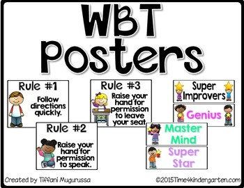 Free Whole Brain Teaching Posters for the Classroom