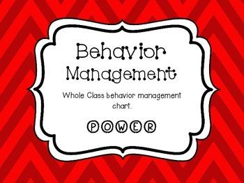 Whole Class Behavior Management POWER Chart Red