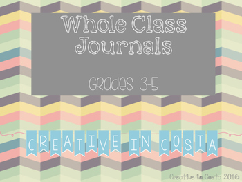 Whole Class Creative Writing Journals