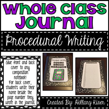 Whole Class Journals (Procedural Writing)