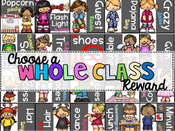 Whole Class Rewards {Editable}