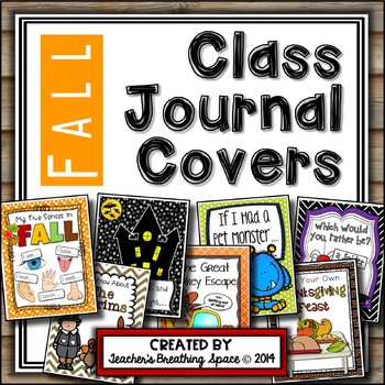 Whole Class Journal Covers for Fall --- October / November