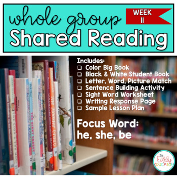 Whole Group Shared Reading Week 11