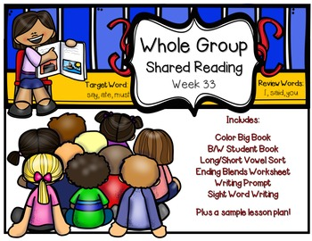 Whole Group Shared Reading Week 33