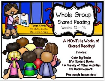 Whole Group Shared Reading BUNDLE Weeks 13-16