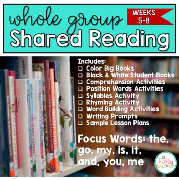 Whole Group Shared Reading BUNDLE Weeks 5-8