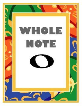 Whole Note Poster
