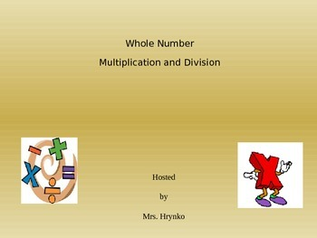 Whole Number Multiplication Division 5th grade Jeopary Sty