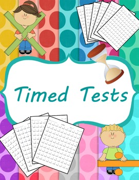 Whole Week Timed Tests Add, Sub, Mult, Div and Mixed