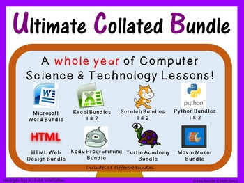 Whole Year Computer & Technology Lesson Bundle - Save $63