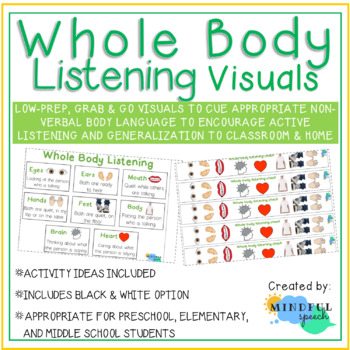 Whole body listening visual