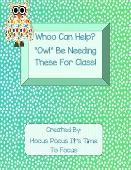 Whoo Can Help? Owl Themed Open House Donation Station Back