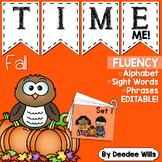 Dolch Word Fluency:  Time Me!  Fall