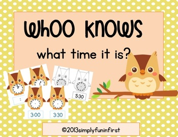 Whoo knows what time it is? {math station--time to the hou