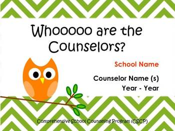 Whooo are the Counselors? Open House / Parent Night Presentation
