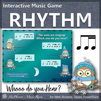 Whooo do you hear?  Interactive Rhythm Game (1 eighth/2 si