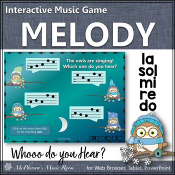 Whooo do you hear? Interactive Melody Game (Do Re Mi Sol La)