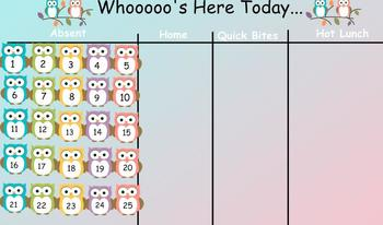 Whoooo's Here Today...  Owl themed Sign-in