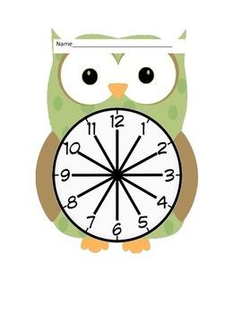 Whooo's My Partner?  Owl Partner Clocks