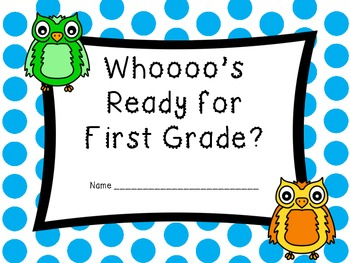 Whooo's Ready for First Grade Book (Beginning of Year Book