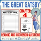 The Great Gatsby Chapter 4 Activity: Characterization and