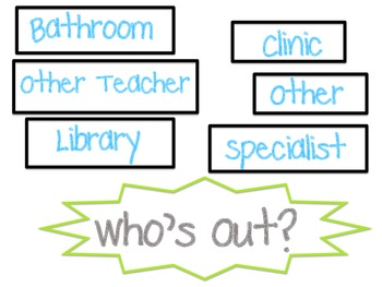 Who's Out Chart Labels