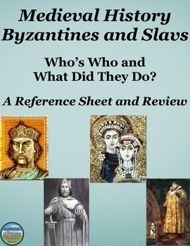 Who's Who in Medieval Europe Byzantines and Slavs: Referen