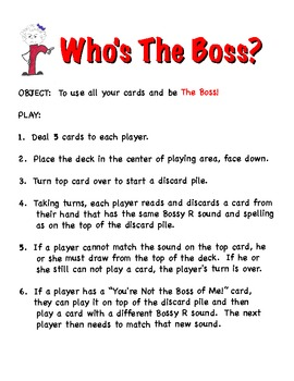 Who's the Boss?  Bossy R Game