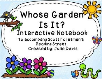 Whose Garden Is It? Interactive Notebook Journal
