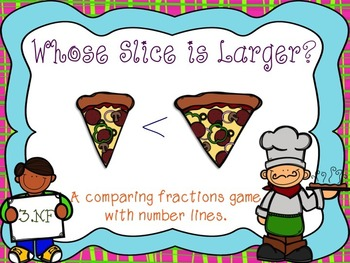 Whose Slice is Larger {Comparing Fractions w/Number Lines}