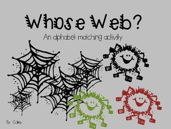 Whose Web? An Alphabet Matching Game