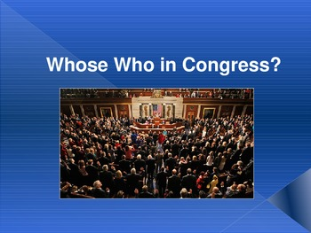 Whose Who in Congress? Congressional Leaders in the House