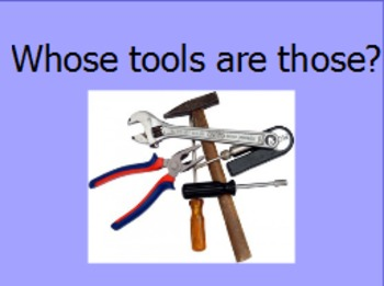 Whose tools are those a sorting activity for the community